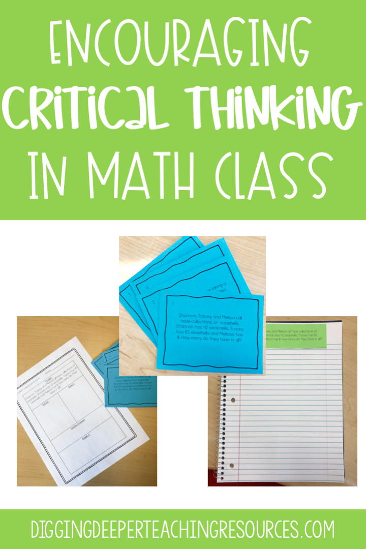 Developing Critical Thinking Skills With Multi-step Word Problems -