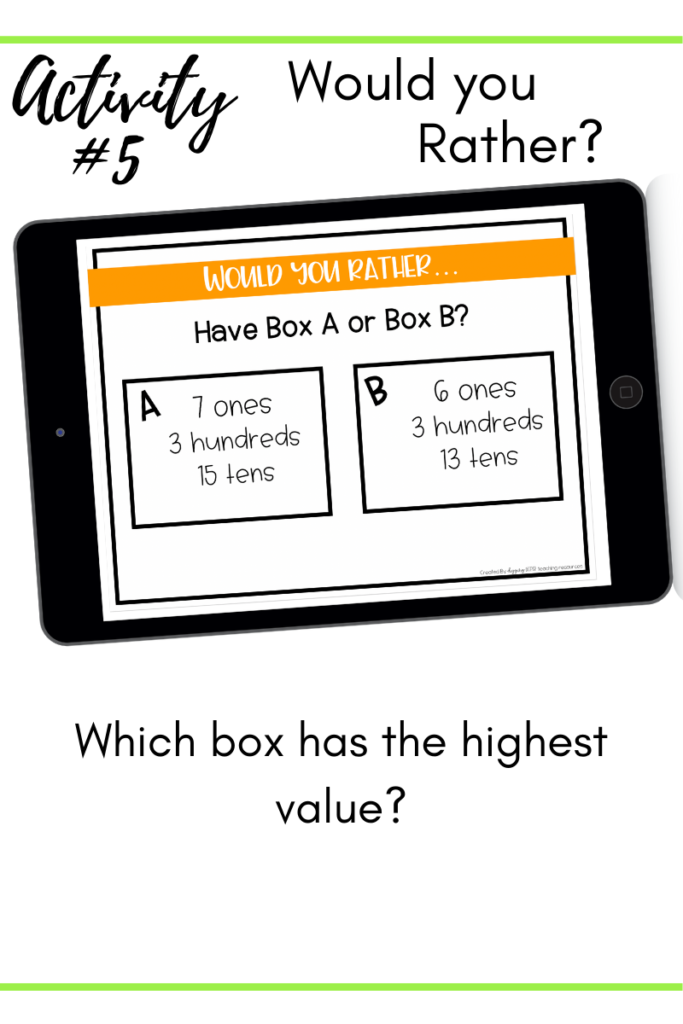 Place Value Number Talks Activity 5